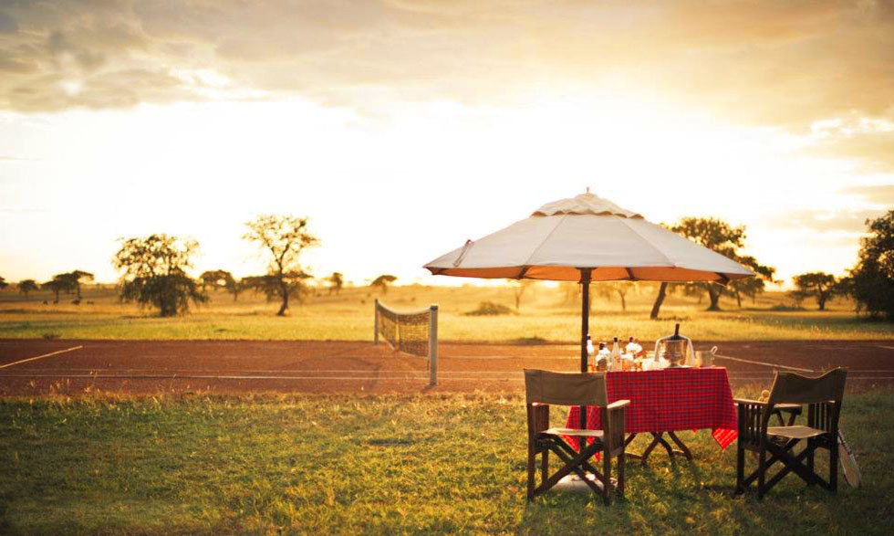 Tennis on luxury safari at Singita Sabora, Tanzania www.luxurysafaricamps.com/singita-sabora.html