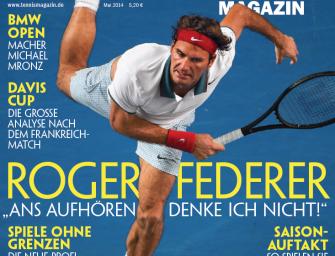 """Mai 2014: Roger Federer: """"Ans Aufhören denke ich nicht!"""""""
