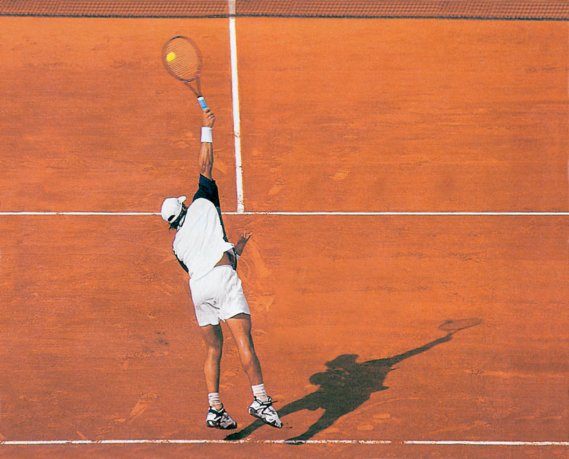 Aufschlag Tennis