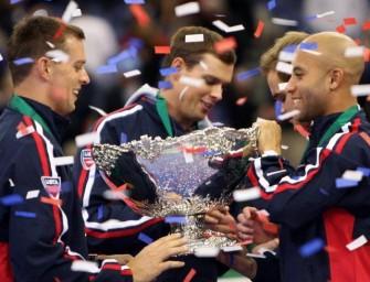 US-Team feiert den Titel gebührend