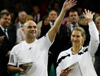 Graf/Agassi strahlen mit Centre Court um die Wette