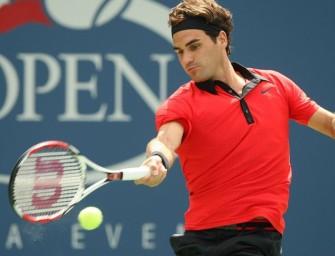 Federer nimmt Auftakthürde