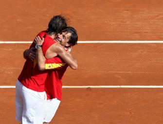 Spanien mit Nadal gegen Serbien