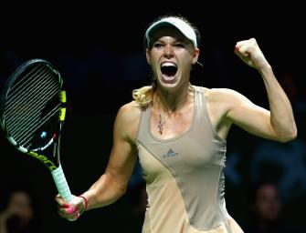 WTA-Finals: Wozniacki ringt Sharapova nieder