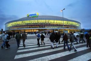 Die O2-Arena (ehemals Sazka-Arena) in Prag.