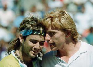 Dauerrivalen in der 90er-Jahren: Andre Agassi (l.) und Boris Becker