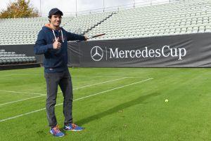 Weihte den Rasen-Centre Court ein und will beim ersten Mercedes Cup auf Rasen 2015 dabei sein.