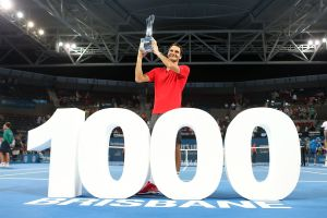 1000 Siege: Roger Federer knackte die historische Marke in Brisbane erst als dritter Spieler der Open Era.