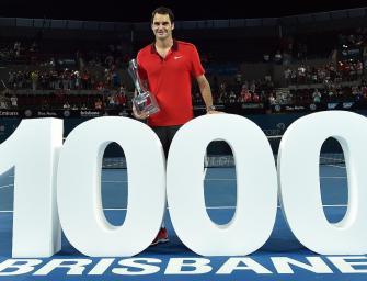 VIDEO: Federer gewinnt mit 1000. Sieg in Brisbane