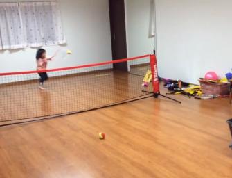 Video: Wenn das Kinderzimmer zum Tennisplatz wird