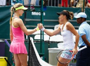 GRÖSSTER KARRIERESIEG: Maria gewann bei den Miami Open in Runde zwei gegen Eugenie Bouchard, Weltranglisten-Siebte, mit 6:0, 7:6.