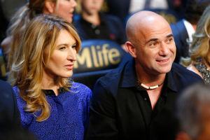 GLÜCKLICHES PAAR: Steffi Graf und Andre Agassi heirateten im Oktober 2011. Vier Tage später wird Sohn Jaden geboren.