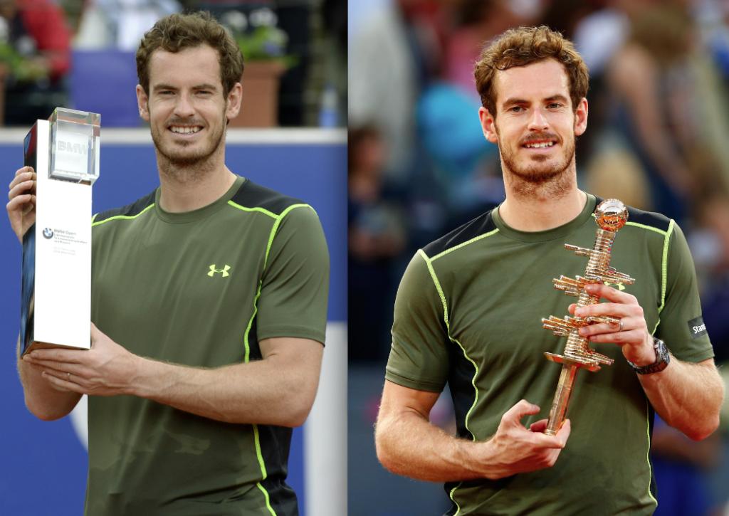 ZWEI AUF EINEN STREICH: Andy Murray gewann innerhalb von sechs Tagen zwei Turniere auf Sand.