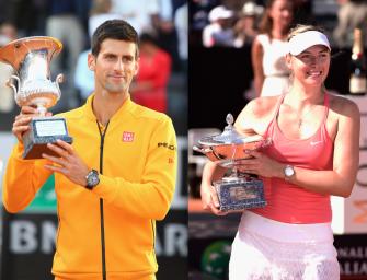 Im Video: Djokovic und Sharapova gewinnen in Rom