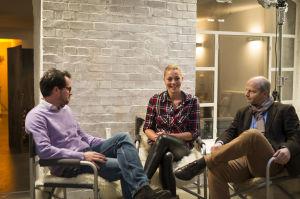 Schon vor der Saison gab sich Witthöft beim großen tM-Interview mit Chefredakteur Underberg (l.) und Vize Antic optimistisch