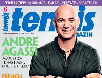 """tennis MAGAZIN 6/2015: Andre Agassi – """"warum ich Tennis hasste und Steffi liebe"""""""