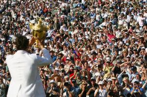 Siebenmal stemmte Federer den Wimbledon-Pokal schon in die Luft. Bekommt er jetzt die Chance auf Titel Nummer acht?
