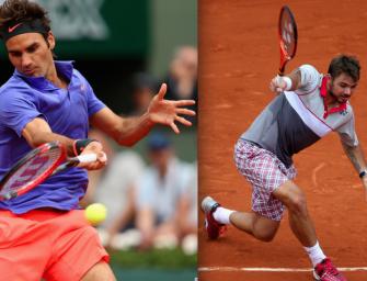 Match des Tages am Dienstag: Federer gegen Wawrinka