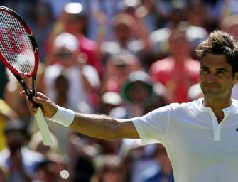 Federer trotz Satzverlust souverän im Achtelfinale von Wimbledon