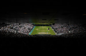LONDON, ENGLAND - JULY 10: A general view inside Centre Court as Andy Murray of Great Britain and Milos Raonic of Canada are in action during the Men's Singles Final on day thirteen of the Wimbledon Lawn Tennis Championships at the All England Lawn Tennis and Croquet Club on July 10, 2016 in London, England. (Photo by Shaun Botterill/Getty Images)