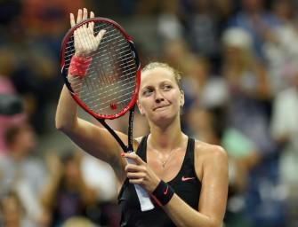 US Open: Genesene Kvitova komplettiert Viertelfinale