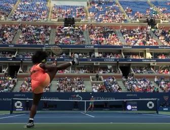 In Superzeitlupe: Die Kung Fu-Rückhand von Serena Williams