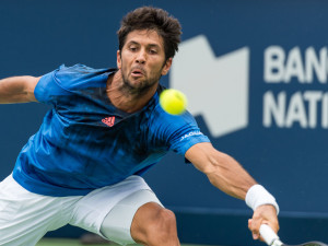 MONTREAL, ON - AUGUST 11:  Fernando Verdasco of Spain watches the ball against Nick Kyrgios of Australia during day two of the Rogers Cup at Uniprix Stadium on August 11, 2015 in Montreal, Quebec, Canada.  (Photo by Minas Panagiotakis/Getty Images)