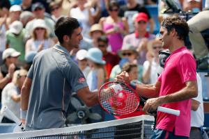 Die Traumpaarung der meisten Tennisfans für das US Open-Finale: Djokovic (l.) gegen Federer