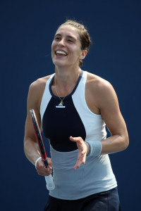 NEW YORK, NY - SEPTEMBER 03:  Andrea Petkovic of Germany celebrates after defeating Elena Vesnina of Russian in their Women's Singles Second Round match on Day Four of the 2015 US Open at the USTA Billie Jean King National Tennis Center on September 3, 2015 in the Flushing neighborhood of the Queens borough of New York City.  (Photo by Streeter Lecka/Getty Images)