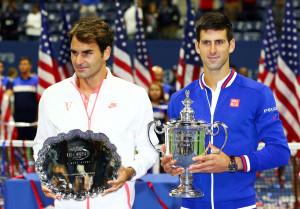 Federer (l.) verpasste seinen sechsten US Open-Titel. Djokovic holte sich seinen zweiten Titel in New York.