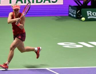 WTA-Finale: Kerber startet mit Sieg gegen Kvitova