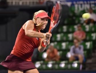 Kerber zieht ins Halbfinale von Wuhan ein
