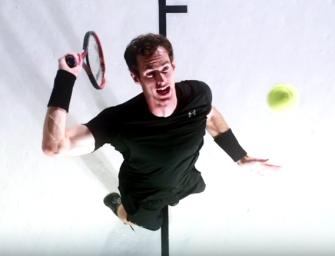 Video: Zeitlupen-Schlagstudie von Andy Murray