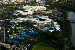 MELBOURNE, AUSTRALIA - JANUARY 24:  A general view of Melbourne Park, AAMI Park and Olympic Park during day eight of the 2011 Australian Open on January 24, 2011 in Melbourne, Australia.  (Photo by Robert Prezioso/Getty Images)