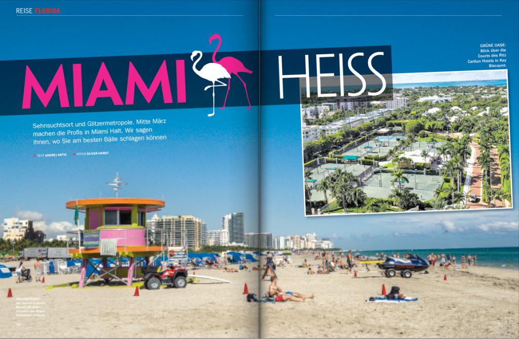 Tennis Magazin 4/2016: Reisereportage Miami