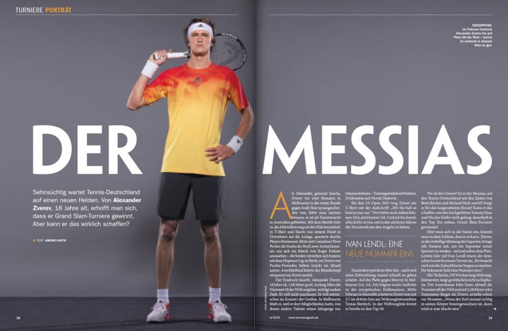 tennis MAGAZIN 4/2016: Porträt Alexander Zverev