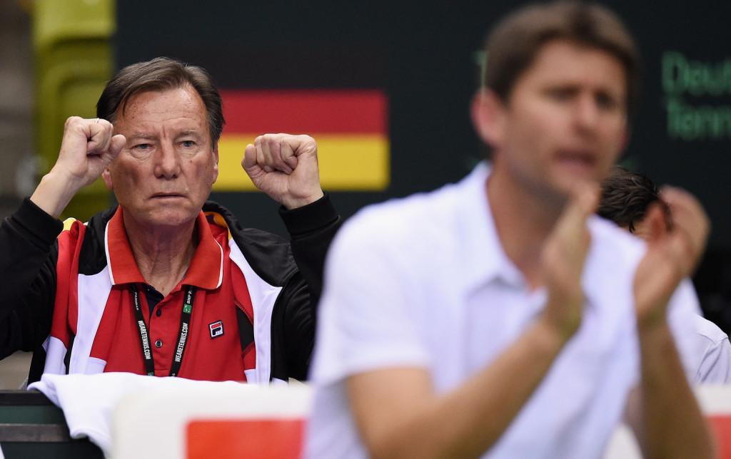 Niki Pilic berät Teamchef Michael Kohlmann und das deutsche Davis Cup-Team