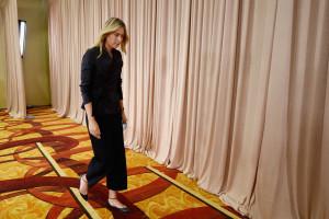 Ein Abgang für immer? Maria Sharapova verlässt die Pressekonferenz