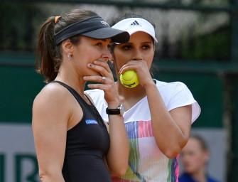 "Achtelfinal-Aus: Hingis/Mirza verpassen ""Santina Slam"""