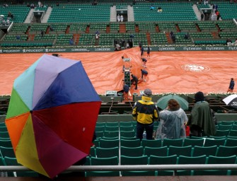 Wegen Regenchaos: Termindruck bei French Open wächst