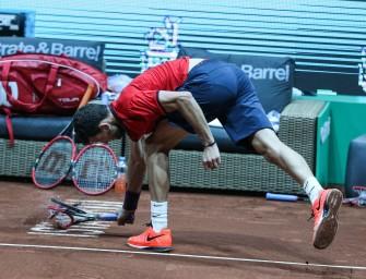 Drei Rackets zertrümmert: Dimitrov entschuldigt sich nach Ausraster