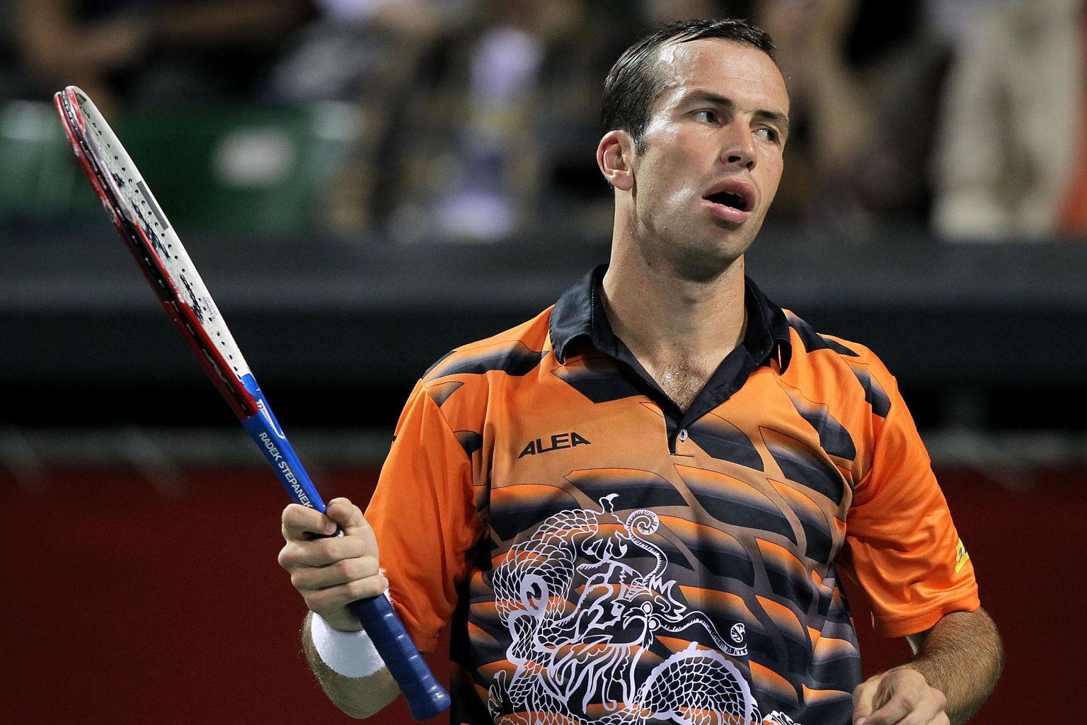 Solche Bekleidungen wie hier von Radek Stepanek bleiben den Zuschauern in Wimbledon erspart.