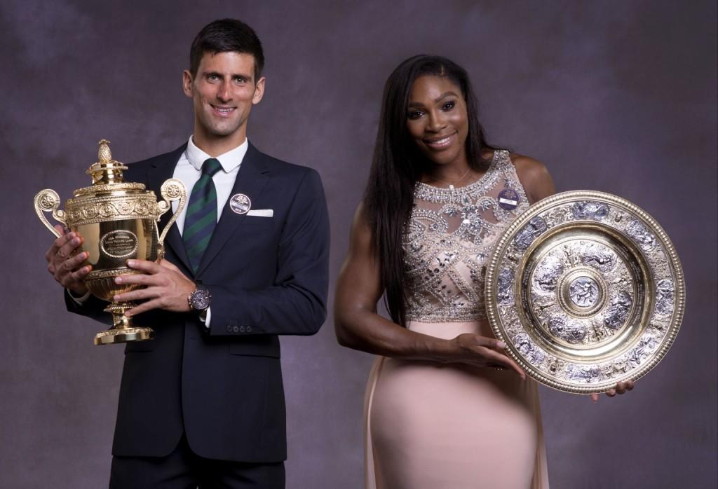 Titelverteidiger und Topfavoriten in Wimbledon 2016: Novak Djokovic und Serena Williams.