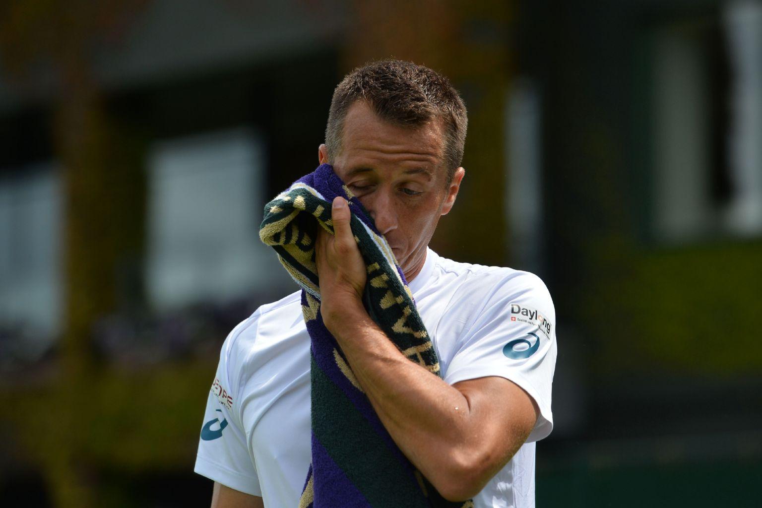 Kohlschreiber ist auch in Wimbledon in der ersten Runde ausgeschieden.