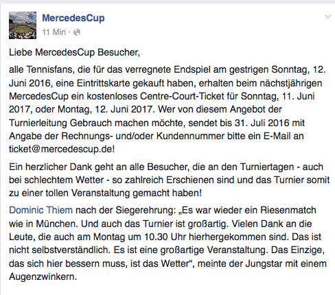 Mercedes Cup Tickets