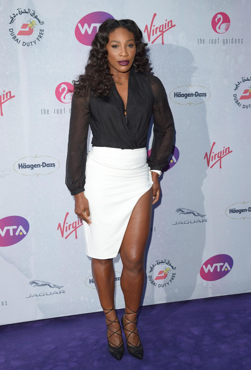 Titelverteidigerin und Topfavoritin Serena Williams war natürlich einer der meist gefragten Gäste