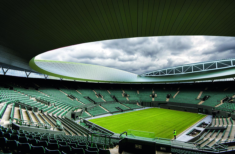 Neues Dach: Nach dem Centre Court wird auch Court 1 mit einem Schiebedach versehen, wie hier in der Fotomontage dargestellt.
