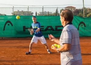 Bob Brett Tennis in San Remo  - Bob Brett School of Tennis  -  -  Solaro Tennis Club - San Remo -  - Italien  - 24 July 2016.  © Juergen Hasenkopf
