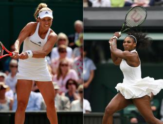 Match des Tages am Samstag: Kerber gegen Serena Williams