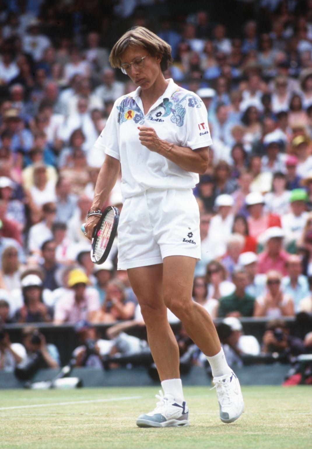 Martina Navratilova während ihres letzten Wimbledon-Endspiels im Jahr 1994. Zu diesem Zeitpunkt war sie über ein Jahr älter als Venus heute.